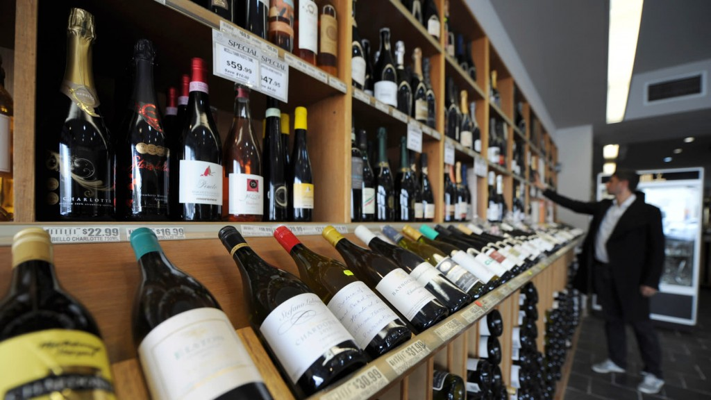 Wines at King and Godfree,one of Australia's oldest licensed grocery stores, located inMelbourne, Australia.