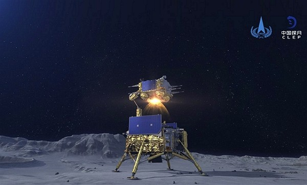 The Chinese lunar probe lifted off from the moon Thursday night with a cargo of lunar samples on the first stage of its return to Earth, state media r...
