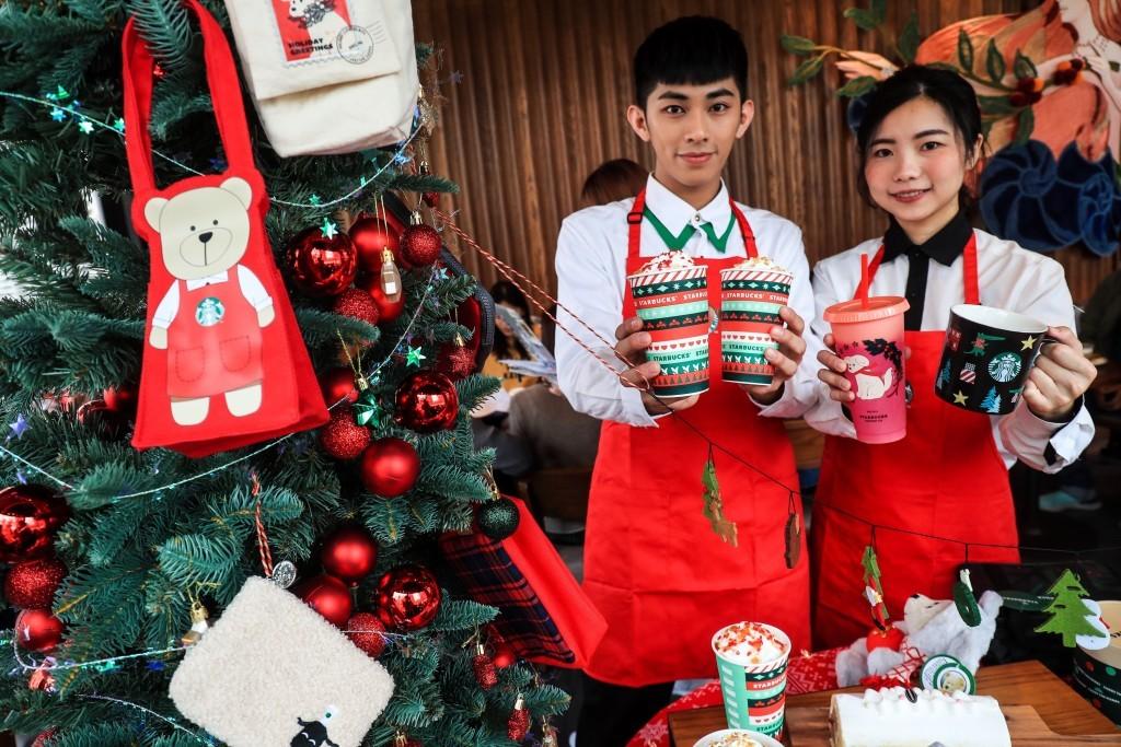 台灣星巴克首座夢幻積木城堡門市盛大開幕 12月4日起全台推出耶誕檔期