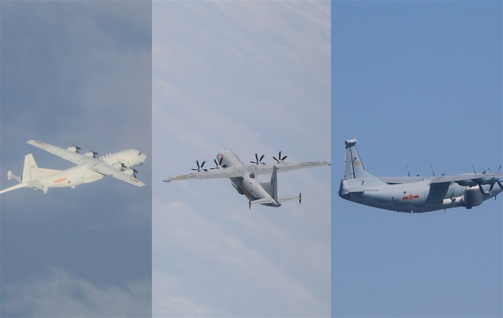 China has frequently sent military planes into Taiwan's ADIZ as a gray-zone warfare tactic. (MND photos)