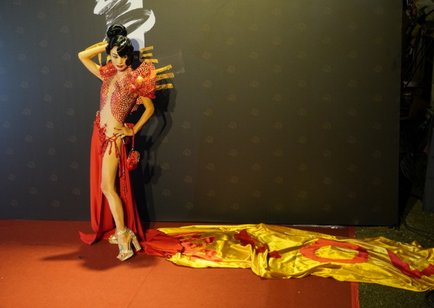 Bai Ling was surprised at Taiwan's virus-free lifestyle after attending the Golden Horse Awards ceremony in November. (Taiwan News photo)