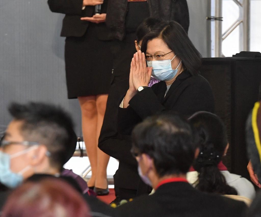 President Tsai Ing-wen visiting the National Human Rights Museum Saturday
