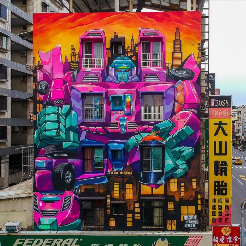 Photo of the Day: Angry Autobot mural in Taiwan's Kaohsiung