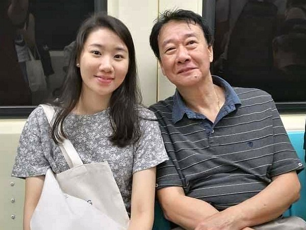 Elaine Tseng (left) wasfatally struck by a drunk driver in Seoul in November. (photo courtesy ofTseng Ching-hui)