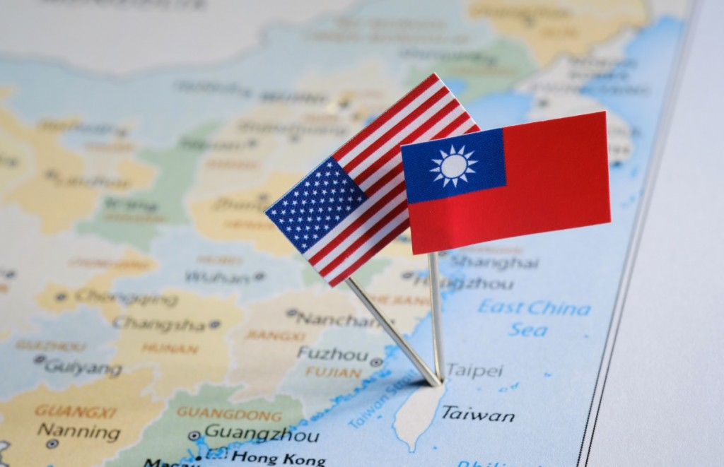 Taiwan, US flags (Getty Images)