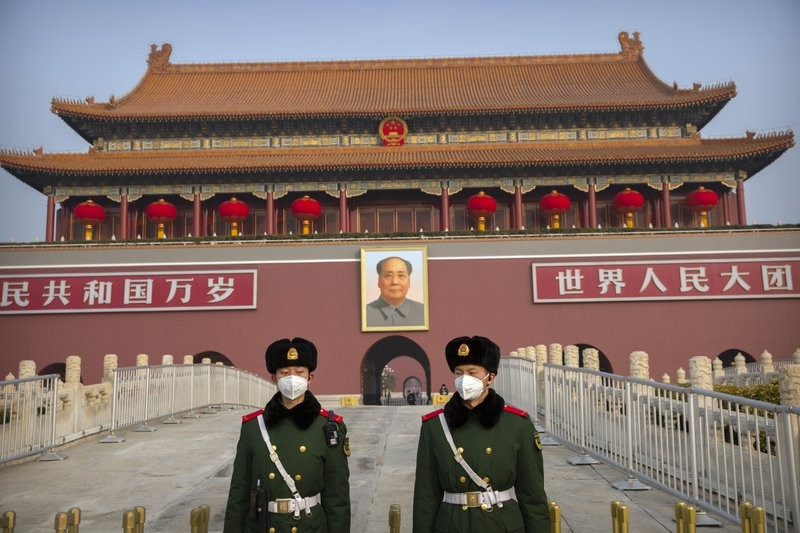 Guards at Tiananmen Gate in Beijing