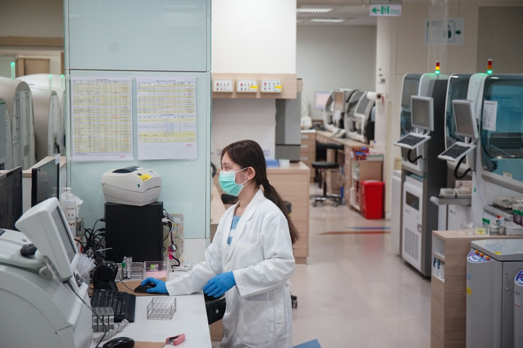 A scene at a hospital in Taiwan during the coronavirus pandemic