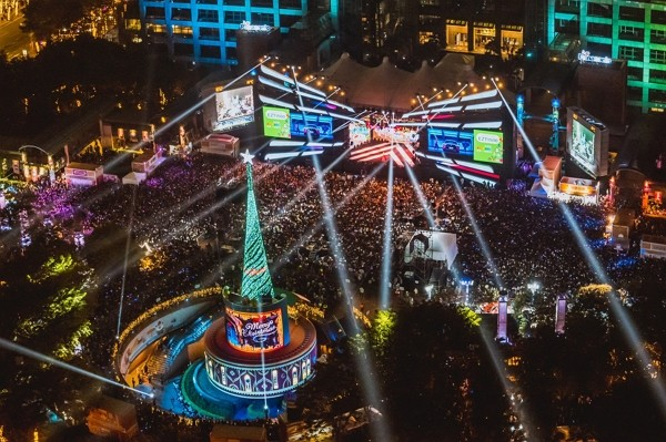 Over 450,000 turn up for weekend concert at New Taipei's Christmasland
