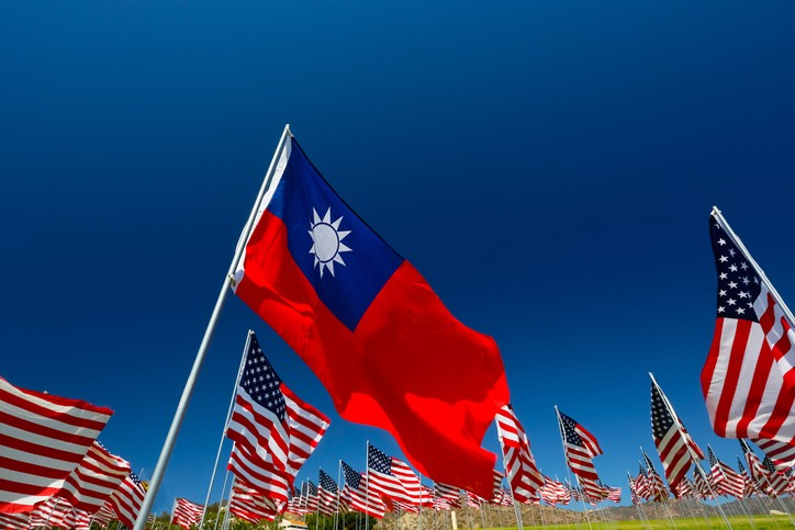 American and Taiwanese flags (Getty Images)
