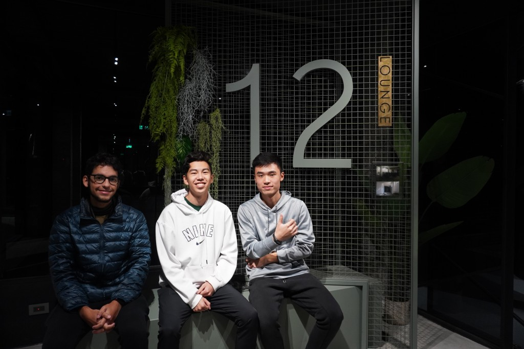 NCTU students Marcello de Paulo, Willie Jeng, and Alex Cheng. (Taiwan News/Venice Tang photo)