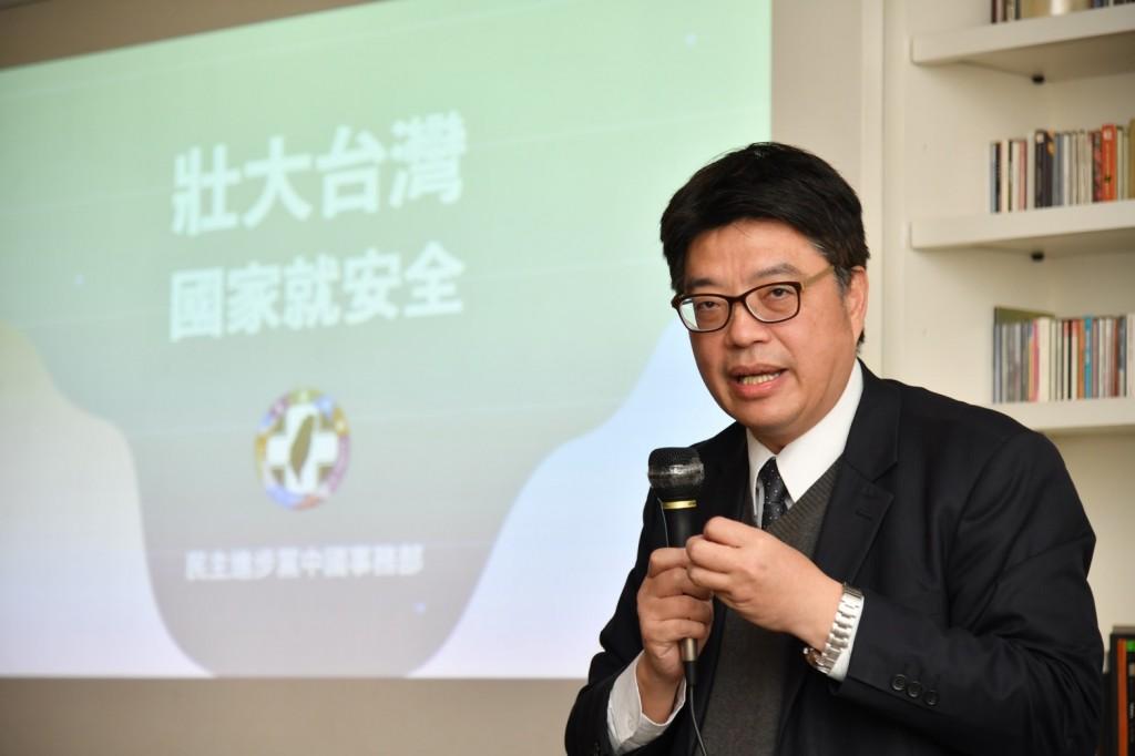 陸委會副主委邱垂正(照片來源:民進黨提供)