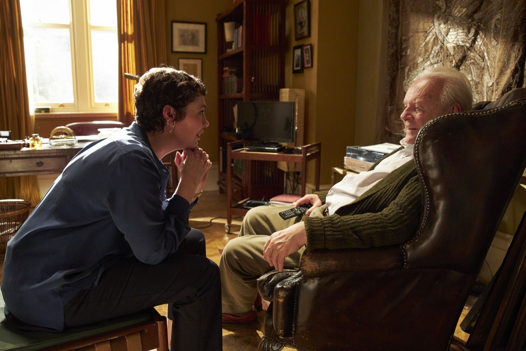 """""""The Father"""" features Anthony Hopkins andOlivia Colman. (Cai Chang International photo)"""
