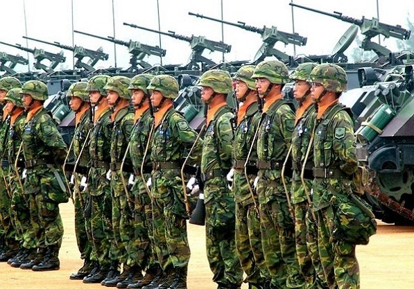 Taiwanese troops