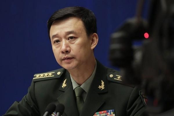 China's defense ministry spokesman Wu Qian.