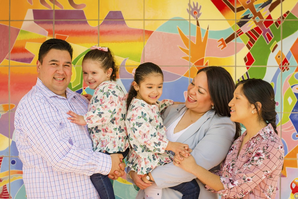 This undated photo provided by the Luz Escamilla Campaign shows Utah lawmaker and Salt Lake City former mayoral candidate Luz Escamilla with her husba...