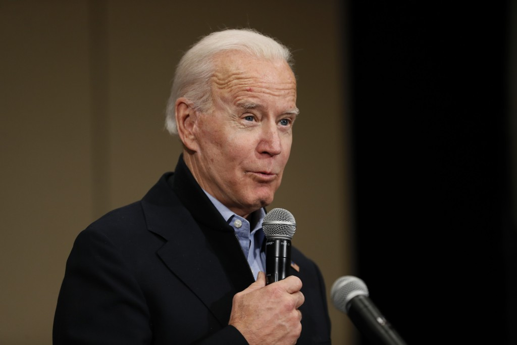 Democratic presidential candidate former Vice President Joe Biden speaks during a community event at the National Motorcycle Museum, Thursday, Jan. 2,...