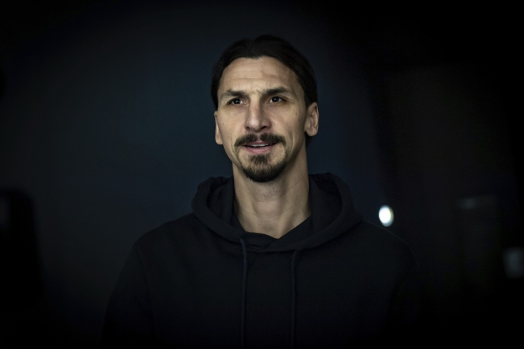 Zlatan Ibrahimovic arrives at the AC Milan team headquarters, in Milan, Italy, Thursday, Jan. 2, 2020.  The 38-year-old striker has returned to AC Mil...