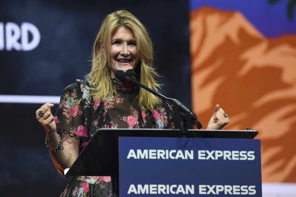 """Laura Dern accepts the career achievement award for her roles in """"Marriage Story"""" and """"Little Women"""" at the 31st annual Palm Springs International Fil..."""