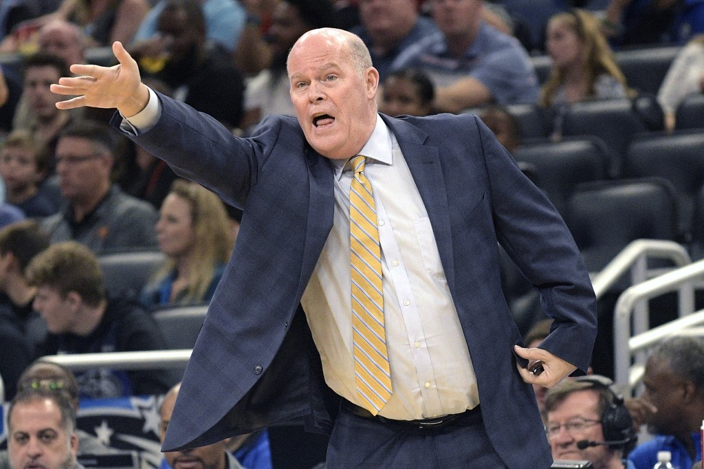 Orlando Magic head coach Steve Clifford shouts instructions during the first half of an NBA basketball game against the Miami Heat, Friday, Jan. 3, 20...