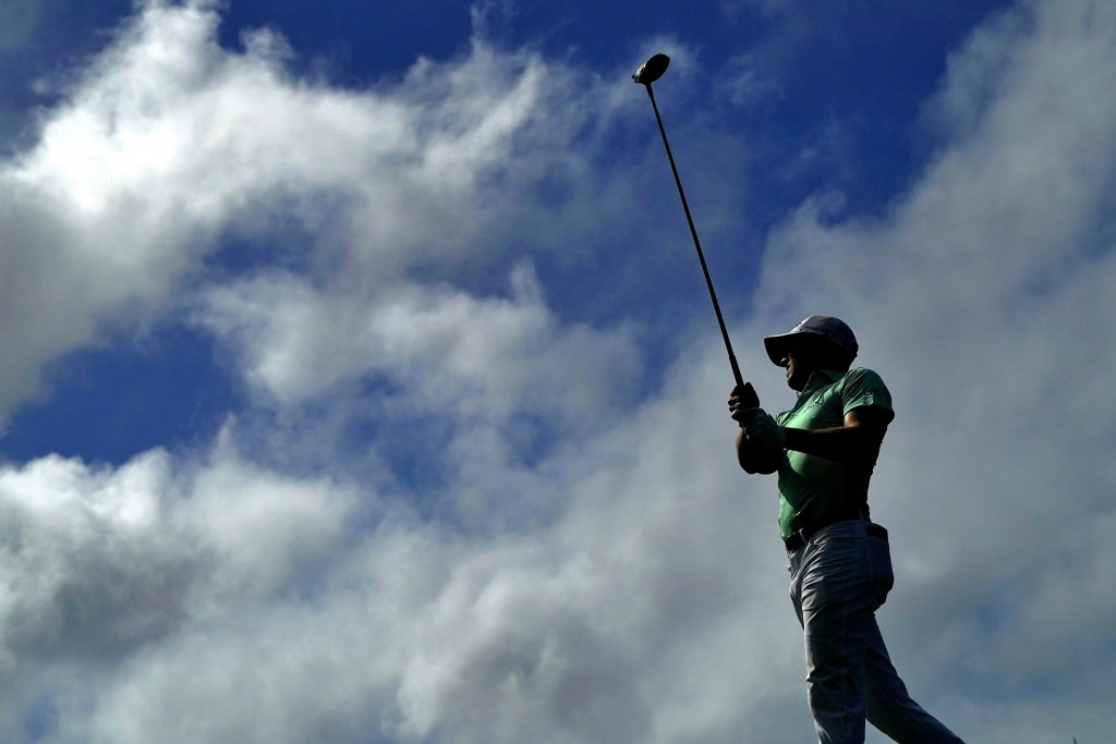Justin Thomas hits from the fifth tee during second round of the Tournament of Champions golf event, Friday, Jan. 3, 2020, at Kapalua Plantation Cours...
