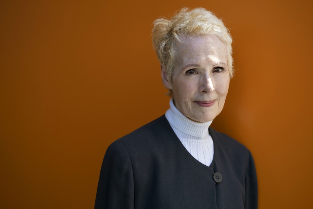 FILE - In this June 23, 2019 file photo, E. Jean Carroll is photographed in New York. President Donald Trump's lawyers asked a judge Friday, Jan. 3, 2...