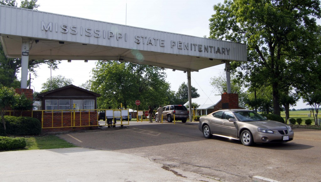 FILE - In this May 19, 2010, file photograph, traffic moves past the front of the Mississippi State Penitentiary in Parchman, Miss. Another Mississipp...
