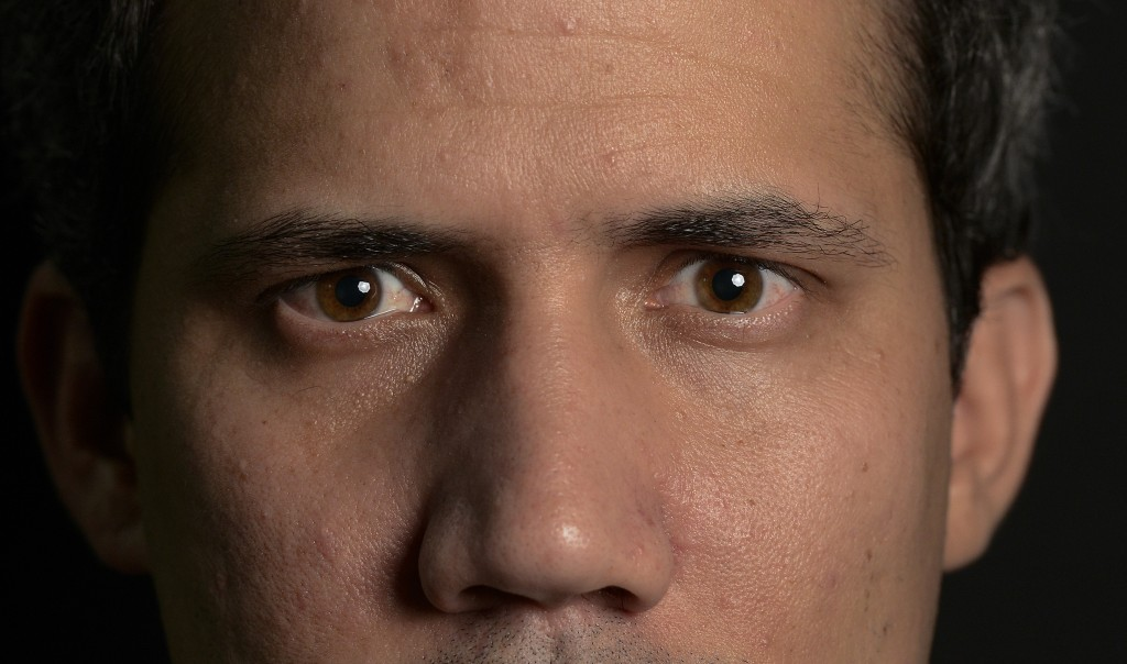 FILE - In this Dec. 16, 2019 file photo, Venezuela's National Assembly President and self-proclaimed interim President Juan Guaido poses for a photo d...
