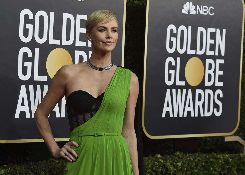 Charlize Theron arrives at the 77th annual Golden Globe Awards at the Beverly Hilton Hotel on Sunday, Jan. 5, 2020, in Beverly Hills, Calif. (Photo by...