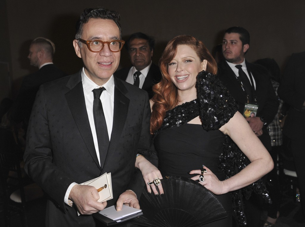 Fred Armisen, left, and Natasha Lyonne attend the 77th annual Golden Globe Awards at the Beverly Hilton Hotel on Sunday, Jan. 5, 2020, in Beverly Hill...