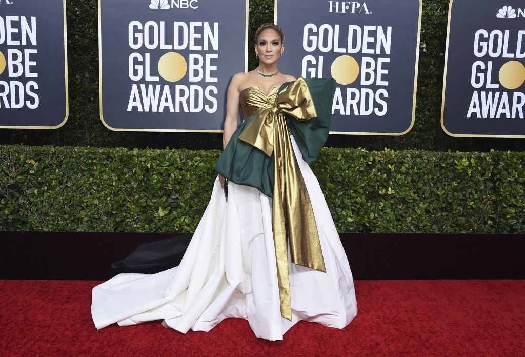 Jennifer Lopez arrives at the 77th annual Golden Globe Awards at the Beverly Hilton Hotel on Sunday, Jan. 5, 2020, in Beverly Hills, Calif. (Photo by ...