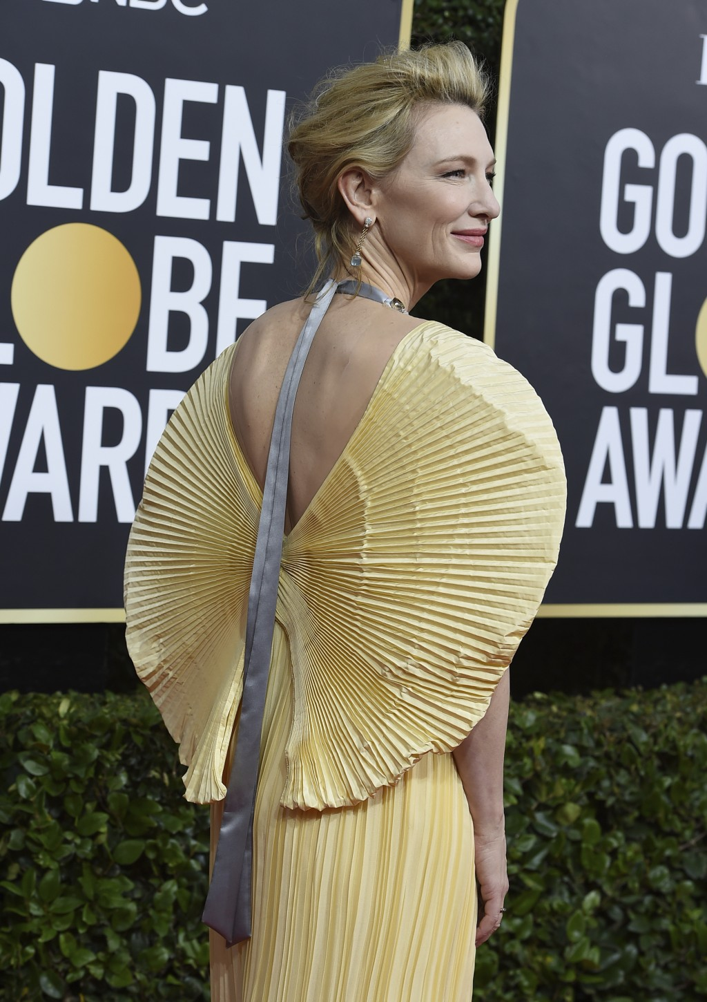 Cate Blanchett arrives at the 77th annual Golden Globe Awards at the Beverly Hilton Hotel on Sunday, Jan. 5, 2020, in Beverly Hills, Calif. (Photo by ...