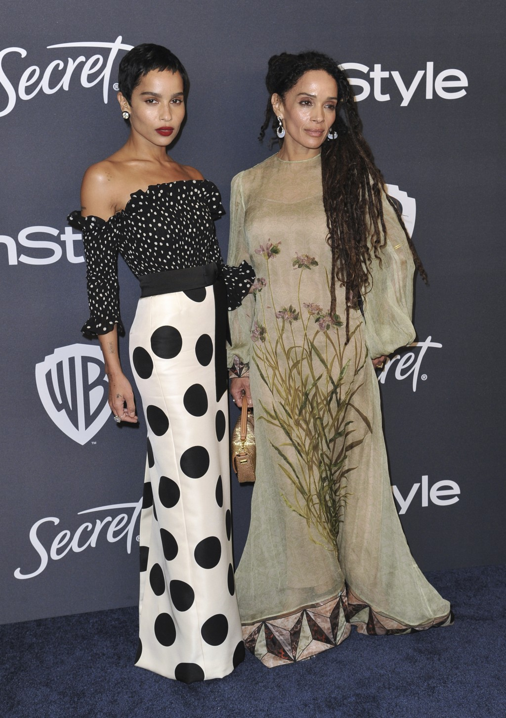 Zoe Kravitz, left, and Lisa Bonet arrive at the InStyle and Warner Bros. Golden Globes afterparty at the Beverly Hilton Hotel on Sunday, Jan. 5, 2020,...
