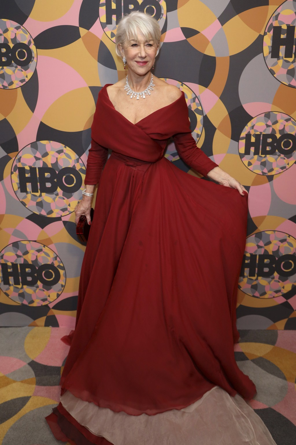Helen Mirren arrives at the HBO Golden Globes afterparty at the Beverly Hilton Hotel on Sunday, Jan. 5, 2020, in Beverly Hills, Calif. (Photo by Willy...