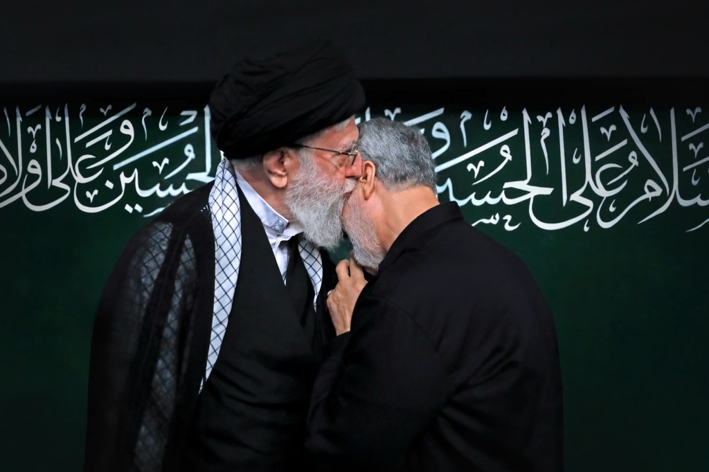 In this Sept. 30, 2017 photo, re-released Friday, Jan. 3, 2020, by an official website of the office of the Iranian supreme leader, Supreme Leader Aya...