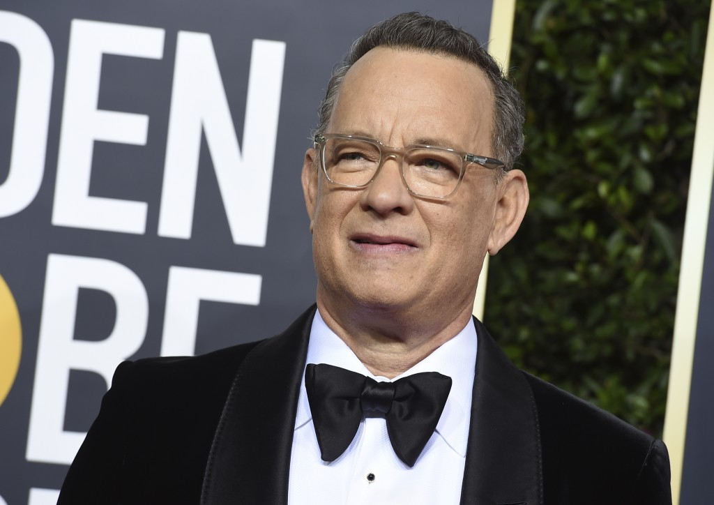 Tom Hanks arrives at the 77th annual Golden Globe Awards at the Beverly Hilton Hotel on Sunday, Jan. 5, 2020, in Beverly Hills, Calif. (Photo by Jorda...