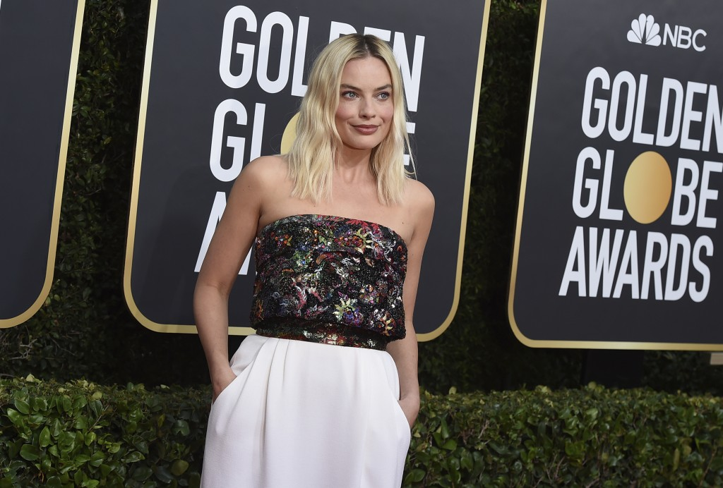 Margot Robbie arrives at the 77th annual Golden Globe Awards at the Beverly Hilton Hotel on Sunday, Jan. 5, 2020, in Beverly Hills, Calif. (Photo by J...