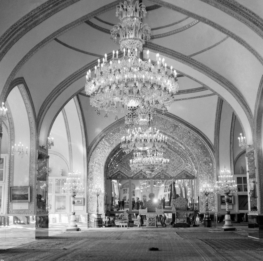 This Oct. 27, 1960 file photo, shows a partial view of the Throne Hall of the Royal Golestan Palace, in Tehran, Iran. Iran's ancient and rich cultural...