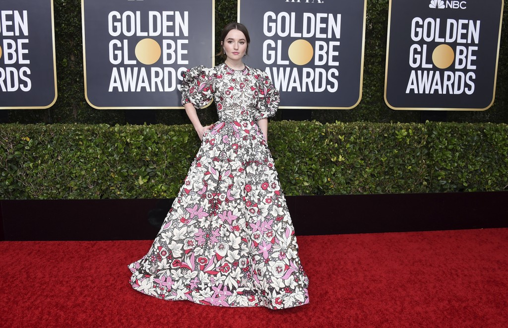 Kaitlyn Dever arrives at the 77th annual Golden Globe Awards at the Beverly Hilton Hotel on Sunday, Jan. 5, 2020, in Beverly Hills, Calif. (Photo by J...