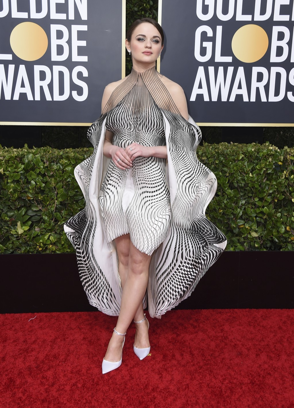 Joey King arrives at the 77th annual Golden Globe Awards at the Beverly Hilton Hotel on Sunday, Jan. 5, 2020, in Beverly Hills, Calif. (Photo by Jorda...