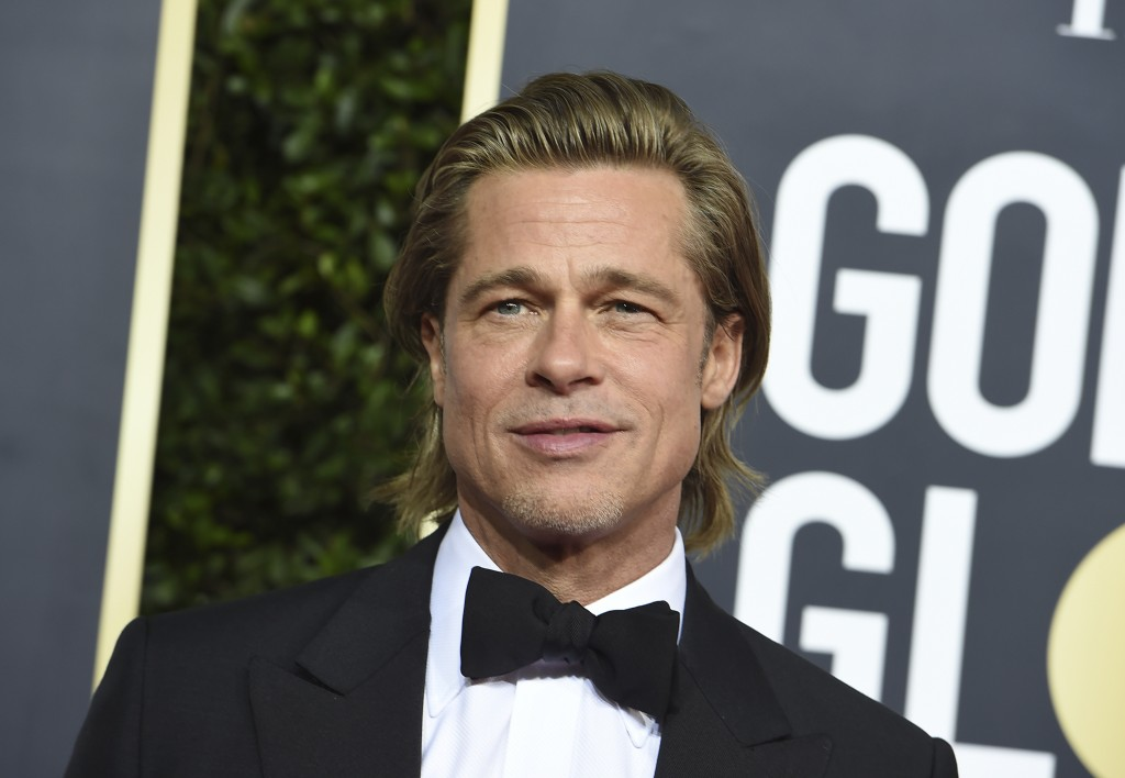 Brad Pitt arrives at the 77th annual Golden Globe Awards at the Beverly Hilton Hotel on Sunday, Jan. 5, 2020, in Beverly Hills, Calif. (Photo by Jorda...
