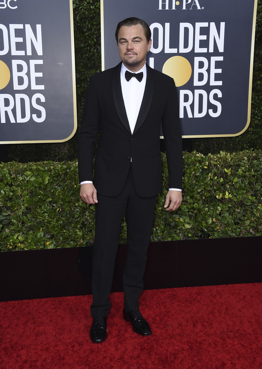 Leonardo DiCaprio arrives at the 77th annual Golden Globe Awards at the Beverly Hilton Hotel on Sunday, Jan. 5, 2020, in Beverly Hills, Calif. (Photo ...