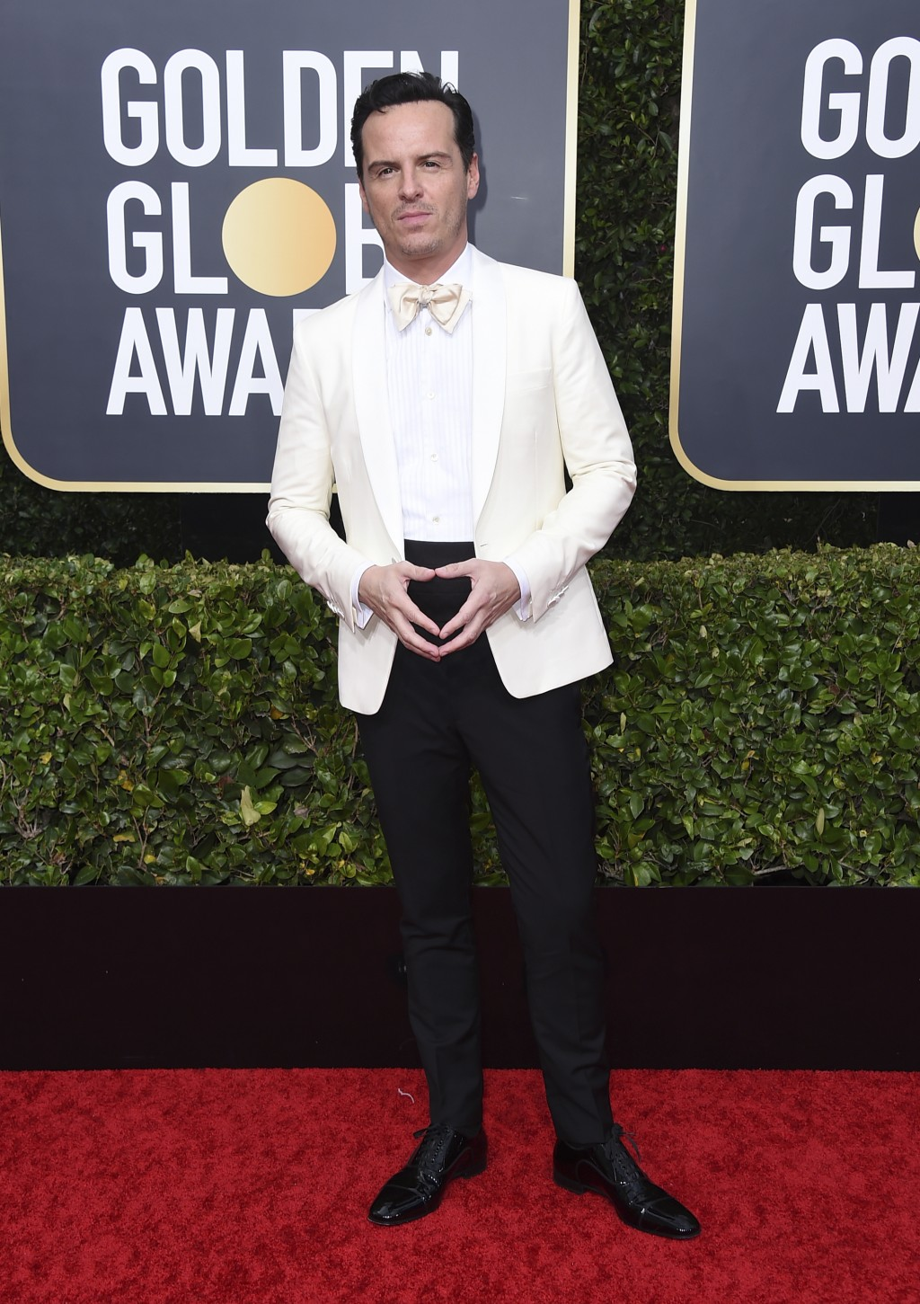 Andrew Scott arrives at the 77th annual Golden Globe Awards at the Beverly Hilton Hotel on Sunday, Jan. 5, 2020, in Beverly Hills, Calif. (Photo by Jo...