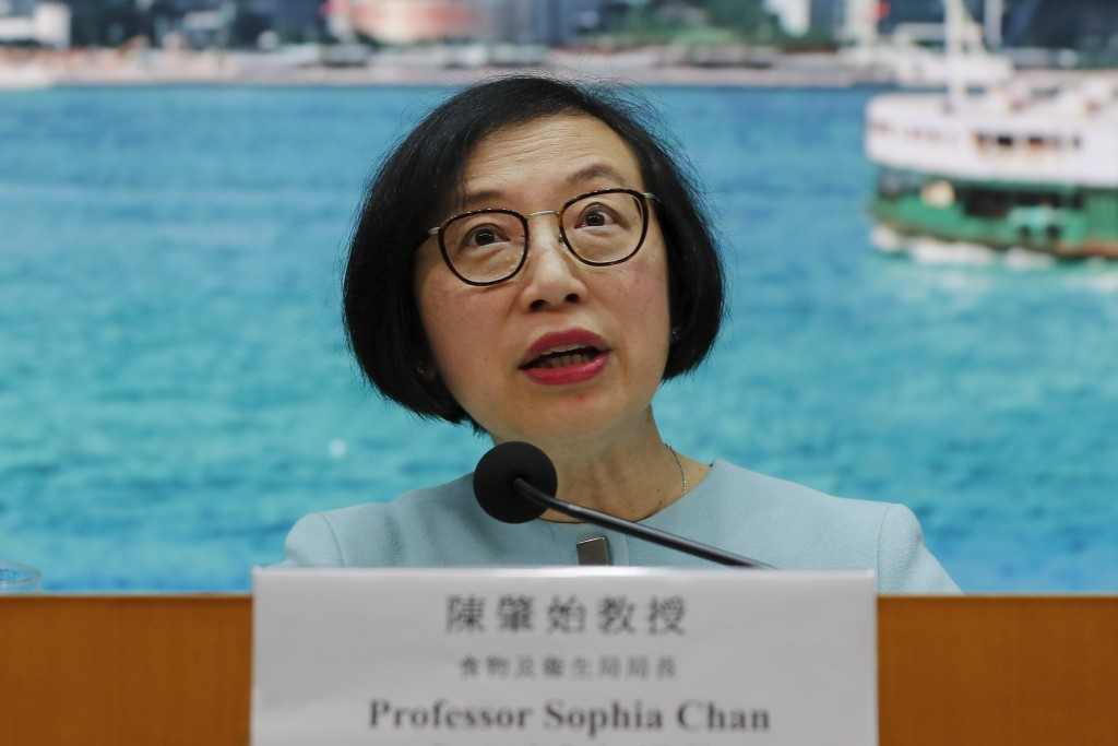 Secretary for Food and Health, Prof. Sophia Chan speaks during a news conference at the Central Government Office in Hong Kong, Tuesday, Jan. 7, 2020,...