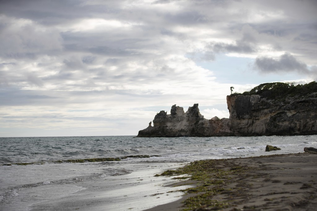 "A natural formation known as ""Punta Ventana,"" or Window Point, stands without the bridge that once created the formation of the window, or a hole, in ..."