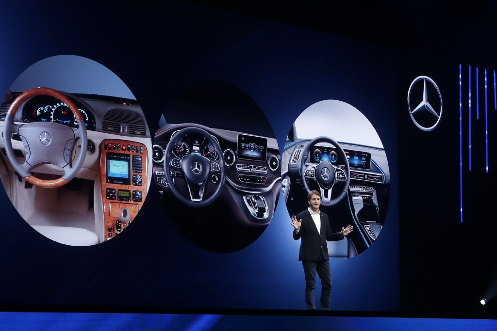 Ola Kallenius, Chairman of the Board of Management Daimler AG and Mercedes-Benz AG, talks about future innovation of the car maker at the world premie...