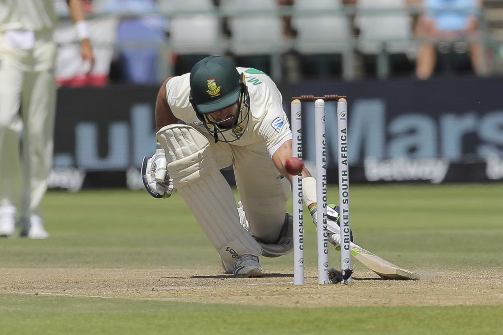 South African batsman Pieter Malan in action during day five of the second cricket test between South Africa and England at the Newlands Cricket Stadi...