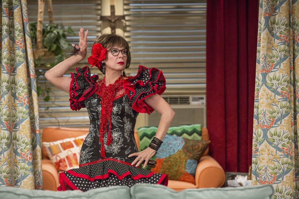 """This image released by Netflix shows Rita Moreno in a scene from """"One Day At A Time."""" The program was nominated for a GLAAD Media Award for outstandin..."""