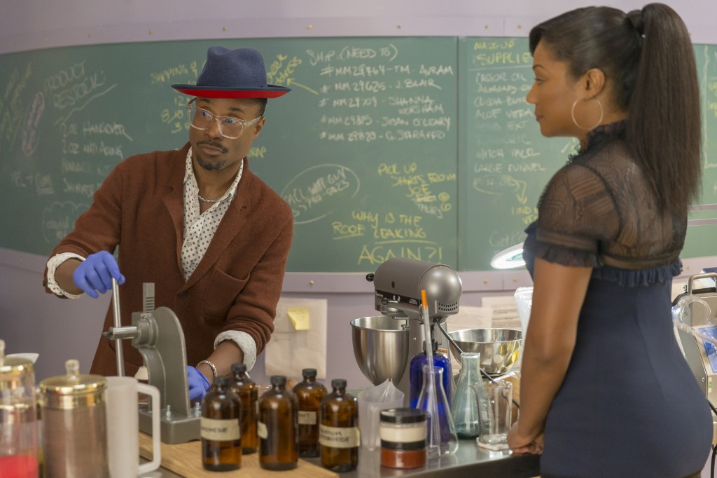 "This image released by Paramount Pictures shows Billy Porter, left, and Tiffany Haddish in a scene from ""Like a Boss."" (Eli Joshua Ade/Paramount Pictu..."