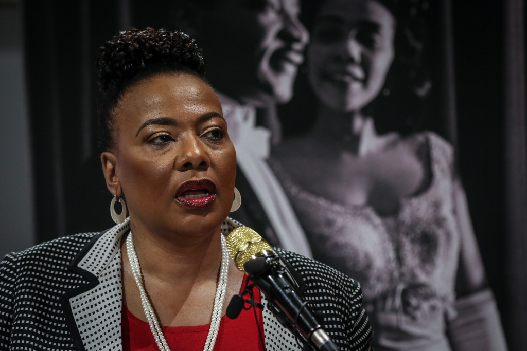 Bernice King, daughter of slain civil rights leader Rev. Martin Luther King Jr., speaks about a series of events to be held in and around The King Cen...