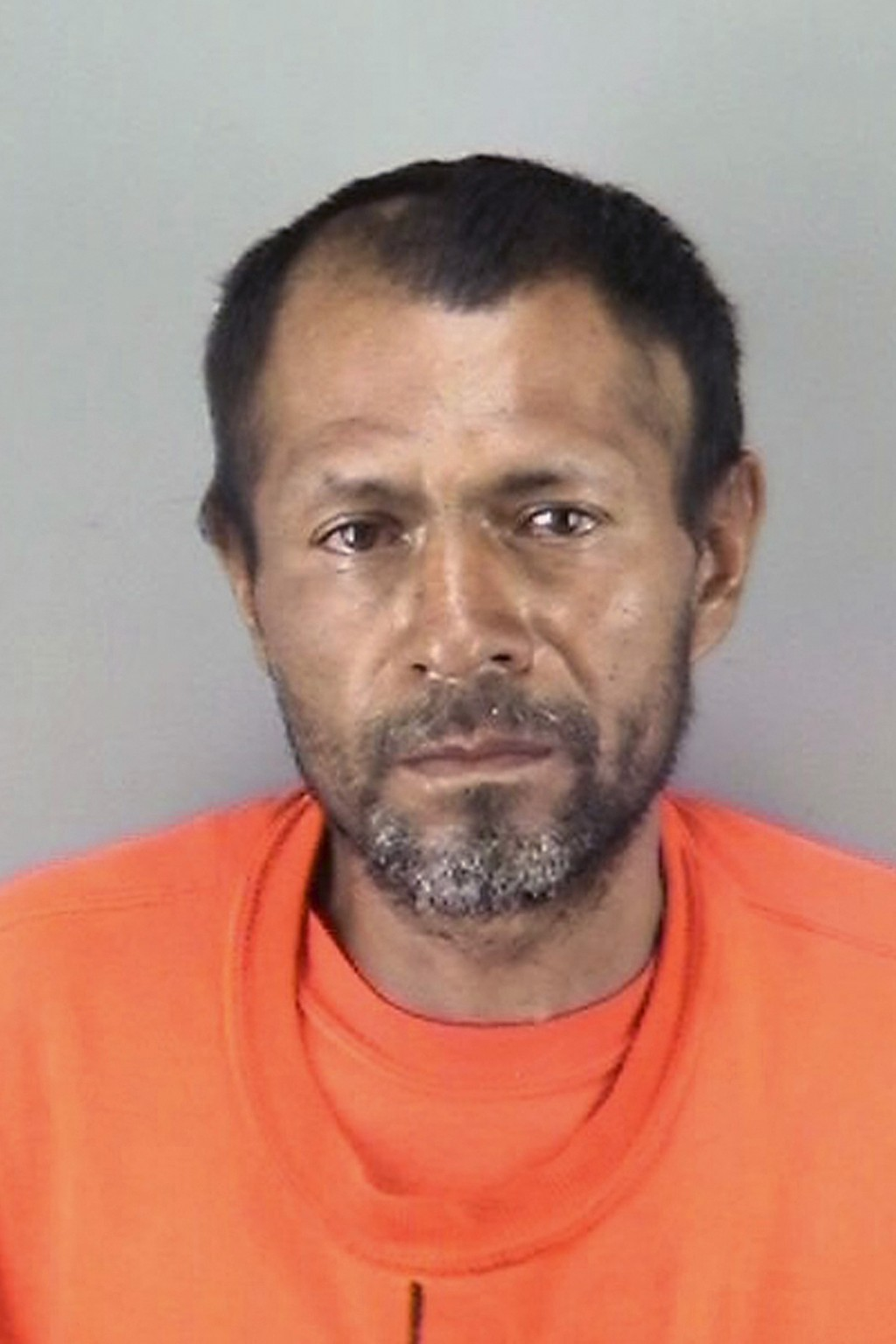 FILE - This undated file booking photo provided by the San Francisco Police Department shows Jose Ines Garcia Zarate, a homeless undocumented immigran...